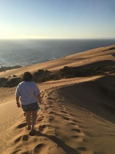 walking along the dunes